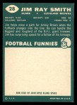 1960 Topps #28  Jim Ray Smith  Back Thumbnail