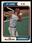 1974 Topps #520  Tim McCarver  Front Thumbnail