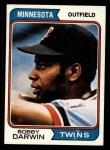 1974 Topps #527  Bobby Darwin  Front Thumbnail