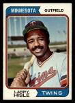 1974 Topps #366  Larry Hisle  Front Thumbnail