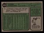 1974 Topps #484  Carmen Fanzone  Back Thumbnail