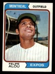 1974 Topps #485  Felipe Alou  Front Thumbnail