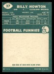 1960 Topps #27  Bill BillyHowton  Back Thumbnail