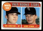 1969 Topps #173   -  Bob Christian / Gerry Nyman White Sox Rookies   Front Thumbnail
