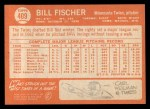 1964 Topps #409  Bill Fischer  Back Thumbnail