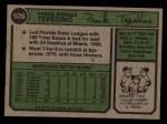 1974 Topps #526  Frank Tepedino  Back Thumbnail