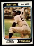 1974 Topps #529  Horace Clarke  Front Thumbnail