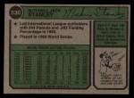 1974 Topps #530  Mickey Stanley  Back Thumbnail
