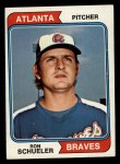 1974 Topps Traded #544 T Ron Schueler  Front Thumbnail