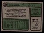 1974 Topps #547  Glenn Borgmann  Back Thumbnail