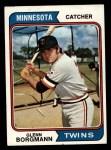 1974 Topps #547  Glenn Borgmann  Front Thumbnail