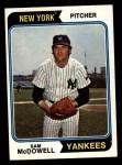 1974 Topps #550  Sam McDowell  Front Thumbnail