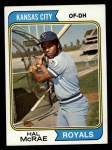 1974 Topps #563  Hal McRae  Front Thumbnail