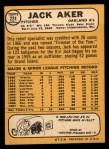 1968 Topps #224  Jack Aker  Back Thumbnail