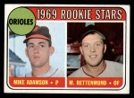 1969 Topps #66   -  Mike Adamson / Merv Rettenmund Orioles Rookies Front Thumbnail