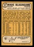 1968 Topps #507  Wade Blasingame  Back Thumbnail