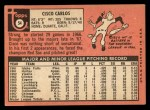 1969 Topps #54  Cisco Carlos  Back Thumbnail