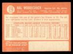1964 Topps #370  Hal Woodeshick  Back Thumbnail