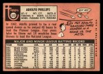 1969 Topps #372  Adolfo Phillips  Back Thumbnail