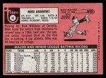 1969 Topps #52  Mike Andrews  Back Thumbnail