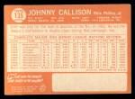 1964 Topps #135  Johnny Callison  Back Thumbnail