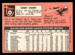 1969 Topps #455  Sonny Siebert  Back Thumbnail