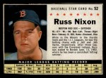 1961 Post #52 BOX Russ Nixon   Front Thumbnail