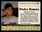 1961 Post #98 BOX Pedro Ramos   Front Thumbnail