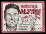 1969 Topps #24 BRK Walter Alston    Back Thumbnail