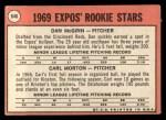 1969 Topps #646   -  Carl Morton / Dan McGinn Expos Rookies Back Thumbnail