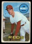 1969 Topps #661  Jim Merritt  Front Thumbnail