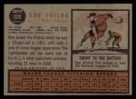 1962 Topps #520  Bob Friend  Back Thumbnail