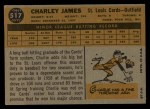 1960 Topps #517  Charlie James  Back Thumbnail