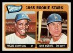 1965 Topps #453   -  Willie Crawford / John Werhas Dodgers Rookies Front Thumbnail