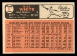 1966 Topps #397  Bill White  Back Thumbnail