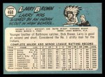 1965 Topps #468  Larry Brown  Back Thumbnail