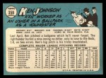 1965 Topps #359  Ken Johnson  Back Thumbnail