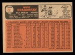 1966 Topps #291  Moe Drabowsky  Back Thumbnail