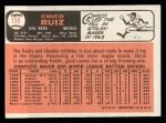 1966 Topps #159  Chico Ruiz  Back Thumbnail