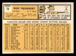 1963 Topps #78  Marv Throneberry  Back Thumbnail