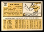 1963 Topps #105 xSTR Ron Fairly  Back Thumbnail