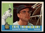 1960 Topps #9  Faye Throneberry  Front Thumbnail