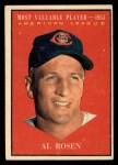 1961 Topps #474   -  Al Rosen Most Valuable Player Front Thumbnail