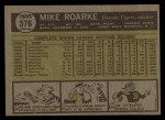 1961 Topps #376  Mike Roarke  Back Thumbnail