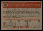 1952 Topps #299  Ray Murray  Back Thumbnail