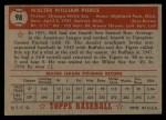 1952 Topps #98  Bill Pierce  Back Thumbnail