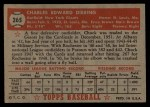 1952 Topps #265  Chuck Diering  Back Thumbnail