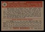 1952 Topps #85  Bob Kuzava  Back Thumbnail
