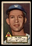 1952 Topps #71 BLK Tom Upton  Front Thumbnail
