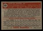 1952 Topps #306  Lou Sleater  Back Thumbnail